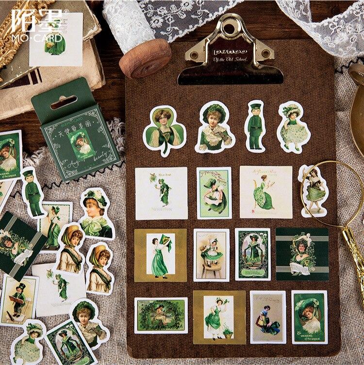 45pcs/pack Beauty Angel Stickers Decorative Stationery Stickers Scrapbooking Diy Diary Album Stick