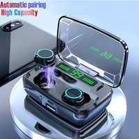Bluetooth Kopfhörer V 5,0 M11 TWS Touch Control Stereo Sport Drahtlose Kopfhörer Noise-Reduktion Ohrhörer Headset mit Power bank