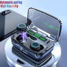 Bluetooth אוזניות V5.0 M11 TWS מגע בקרת סטריאו ספורט אלחוטי אוזניות רעש הפחתת אוזניות אוזניות עם כוח בנק