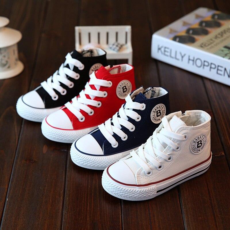Kids Shoes For Girl Children Canvas Shoes Casual Boy Sneaker Zapatillas Little Girl Shoes White High Fashion Buty Tenis Infantil