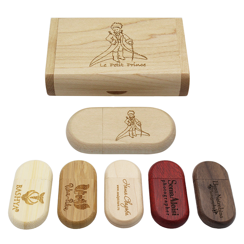 KING SARAS 5 Colour Wood Walunt  Wood Personalized LOGO Usb Flash Drive Usb 2.0 4GB 8GB 16GB 32GB 64GB Photography Engrave Gift