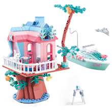 Compatible Legoingly Friends Tree House Pink Bus Racing Princess Dream Series Figures Building Blocks Brick Set Toys For Girls friends series princess palace house building blocks compatible legoed figures friend for girls construction toy for children