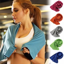 1 шт. спортивное полотенце для фитнеса с быстрым холодным ощущением портативное быстросохнущее полотенце из микрофибры для занятий йогой и спортом на открытом воздухе 7 цветов