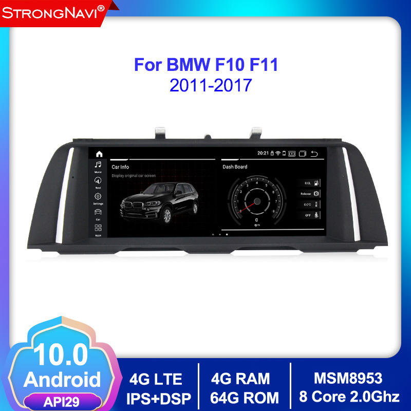 Android 10.0 Car Auto Radio GPS Player For <font><b>BMW</b></font> 5 Series F10 F11 (2011-2016) CIC/NBT 520i car Multimedia GPS Navigation Stereo image