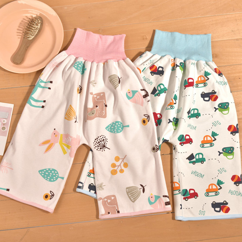 New Prevent Baby Bed Wetting Pure Cotton Baby\'s Skirt For Preventing Leakage Of Urine Learning Pants That Can Be Washed Skirts