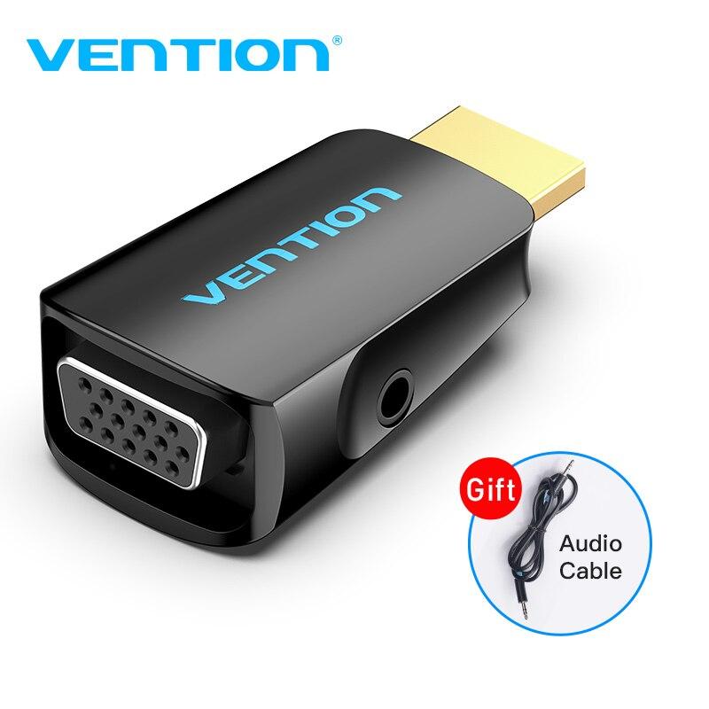 Vention hdmi para conversor vga, conversor de 1080p hdmi macho para vga fêmea, com adaptador de áudio para ps4, laptop, caixa de tv adaptador vga hdmi, projetor
