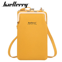 Baellerry-Bolso pequeño de hombro para mujer, cartera femenina de alta calidad con bolsillo para teléfono, a la moda, color amarillo, para verano, 2021