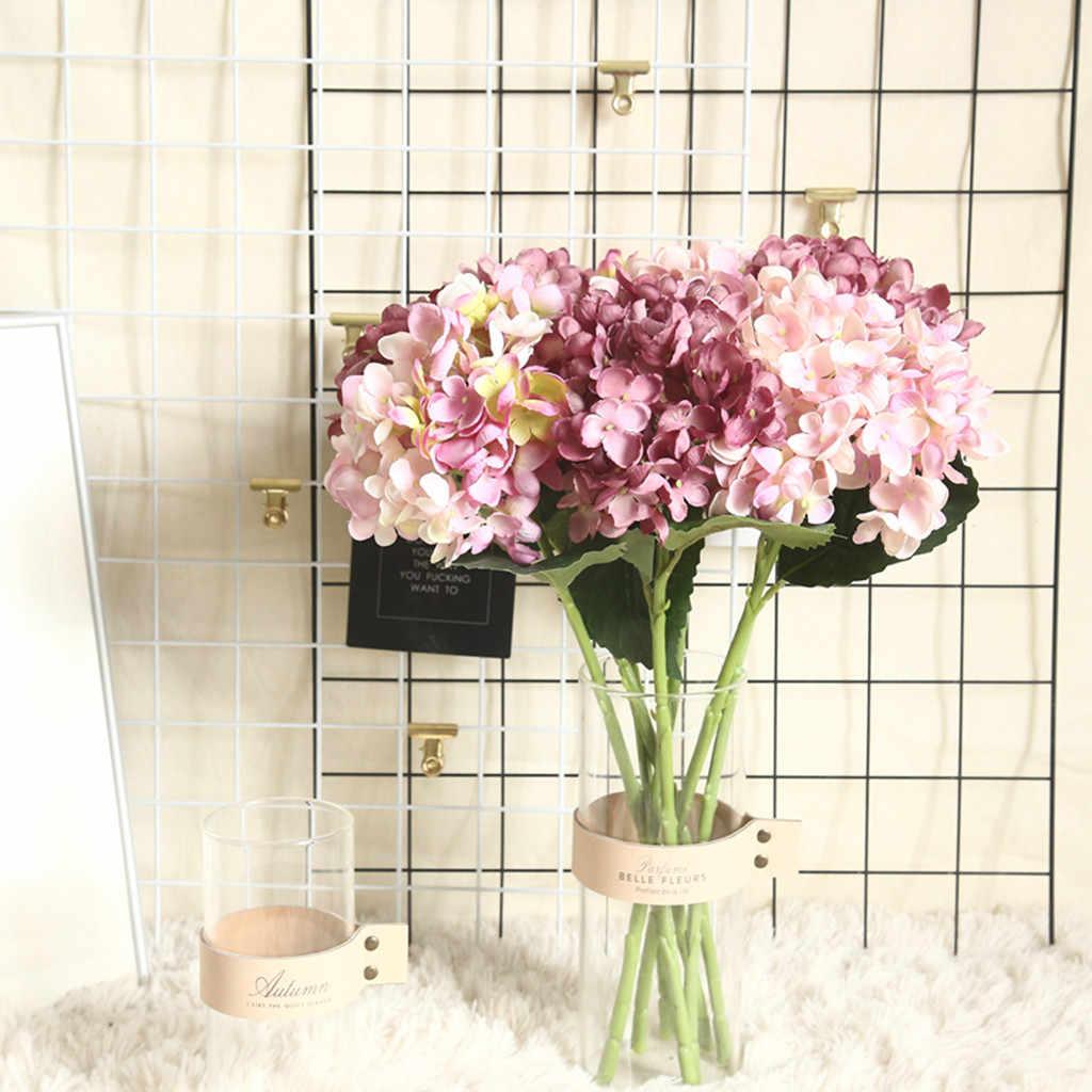 Kunstbloemen Nep Bloemen декор для дома hortensia Nep Zijde Bloem Thuis Bruiloft Bloemen Decor Groothandel Gratis Schip Z5