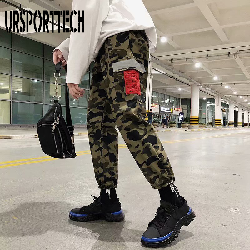 2020 New High Quality Skinny Streetwear Joggers Hip Hop Cargo Trouers Punk Military Tactical Camouflage Harem Men Fashion Pants