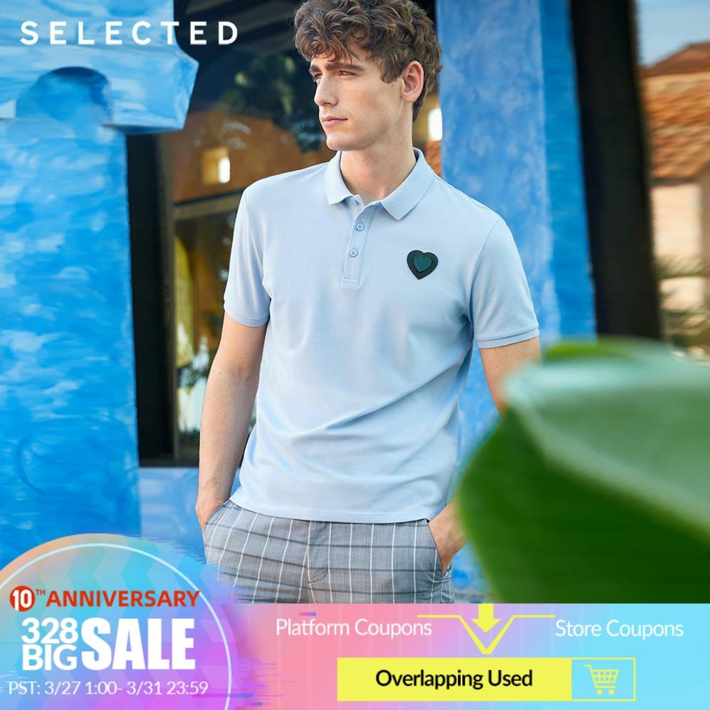 SELECTED Men's Spring Turn-down Collar Short-sleeved Polo S|419106516
