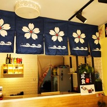 Japanese-style hanging flag Japan festival restaurant shop kitchen hotel banner bar pub coffee horizontal curtain