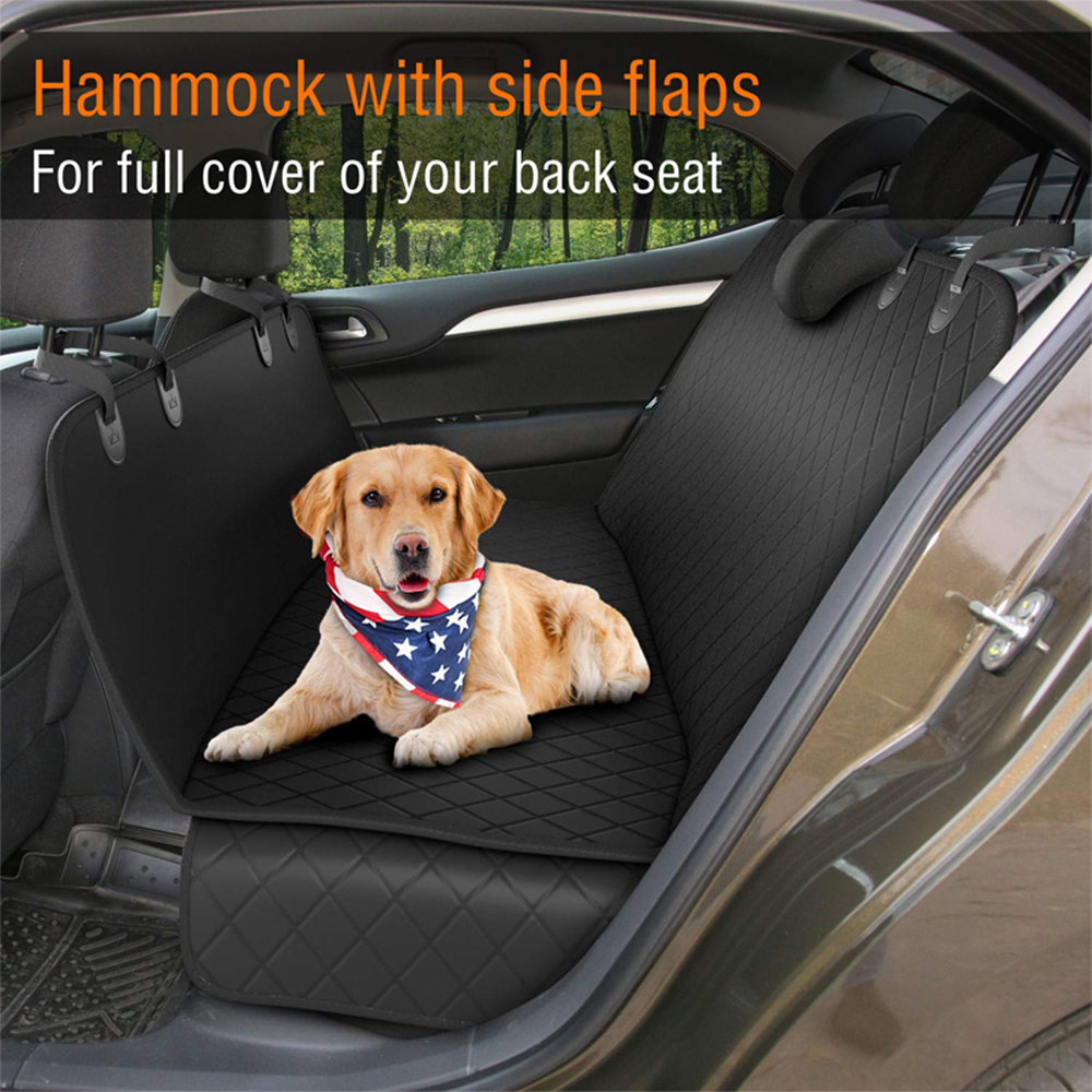 Lanke Dog Back Seat Cover Protector Waterproof Scratchproof Nonslip Hammock for Dogs, Against Dirt and Pet Fur Car Seat Covers 9