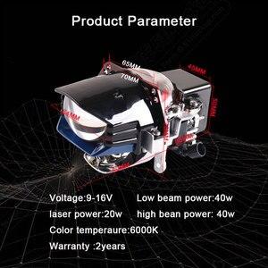 Image 3 - Sanvi Newes 2.5 inches  Bi LED Laser Projector lens Headlight 12V 5500k 100W Auto LED Projector Headlight Car Headlight Retrofit