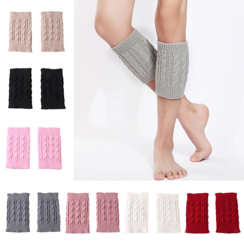 1 Pair Women Girls Winter Autumn Cable Knitted Boot Cuffs Short Leg Warmer Socks