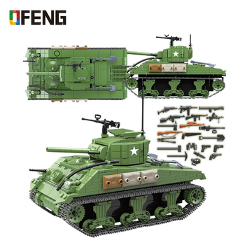 Military Tank Building Blocks Military WW2 Tank Officer Soldier Weapon Army Bricks Kids Educational Toys For children Boy Gifts 524 pcs military technic tank building blocks toys weapon figures ww2 army soldier creator toy educational bricks for children