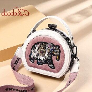 Tasche Frau 2019 Tragbare Diamant Kleine Kreis Paket Elefanten Stickerei Einzelner Schulter Satchel luxus handtaschen frauen designer