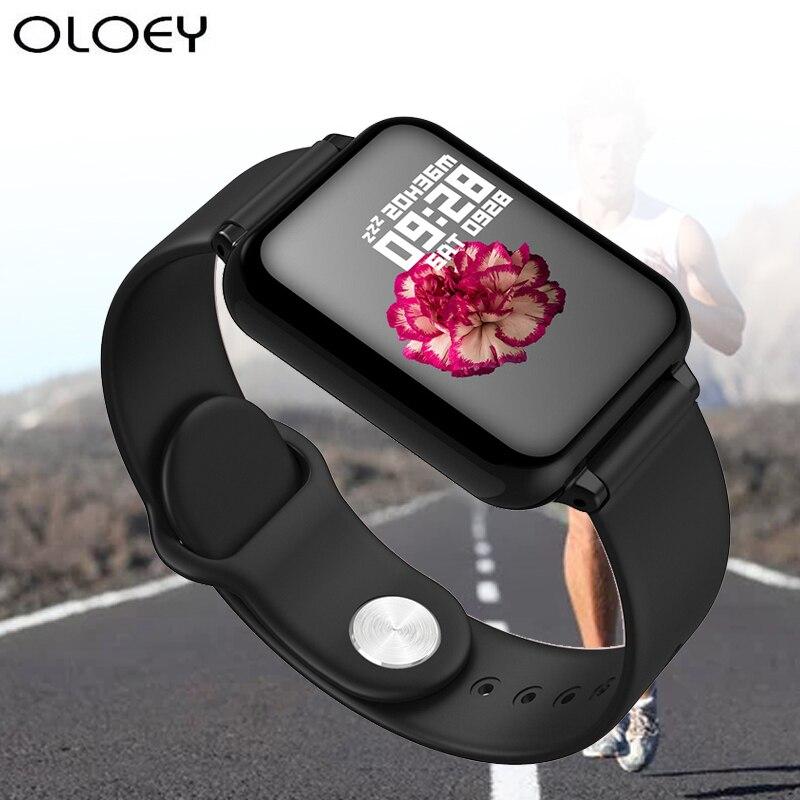 Pulseira de Relógio Monitor de Freqüência Cardíaca de Fitness Nova Pressão Arterial Relógio Inteligente Oxigênio Ip67 Homens Mulheres Esporte Reloj Smartver