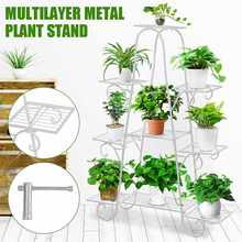 3-Tier 9 Pots Plant Flower Stand Shelf Balcony Yard Garden Flower Plant Stand Display Shelf Corner Stand Display Shelf Rack