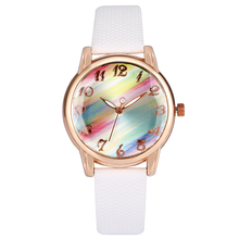 2020 Fashion Watches Women Rainbow Mirror Female Clock Quartz Wristwatch White/Pink/Red Leather Band Bracelet Watch Montre Femme kevin fashion women red watch student quartz analog watches leather wristwatch elegant vintage casual crystal montre femme hour