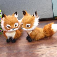 New 1 Pcs Simulation Animal Foxes/Owl Plush Toy Doll Photography for Children Kids Birthday Gift