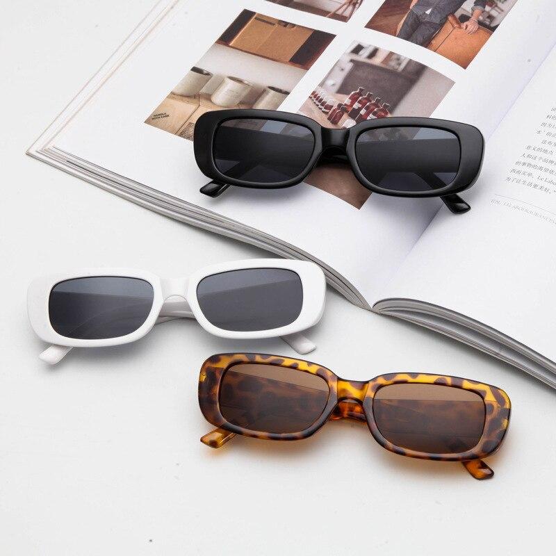 ZXWLYXGX 2021 Vintage Small Rectangle Sunglasses Women Brand Designer Square Sun Glasses Shades Female UV400