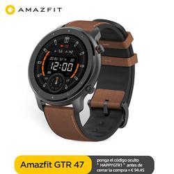 Глобальная версия Amazfit GTR 47 мм Смарт-часы 5ATM водонепроницаемые умные часы 24 дня батарея GPS управление музыкой кожаный силиконовый ремешок