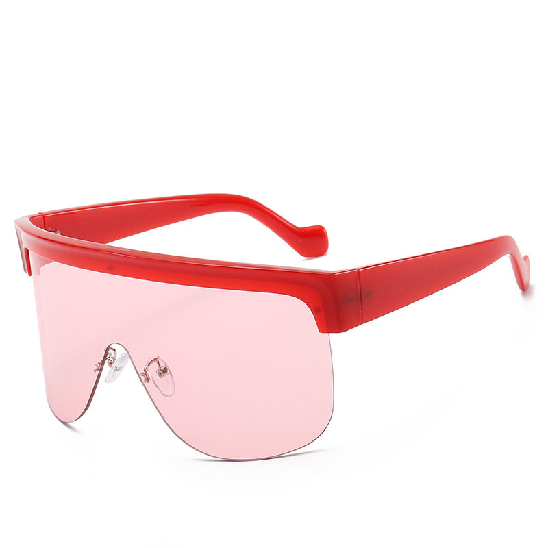 Large Frame Siamese <font><b>Sunglasses</b></font> Men Windproof <font><b>Sunglasses</b></font> Women Fashion Driving Glasses Man Cool Vintage Pink Luxury Brand Male image