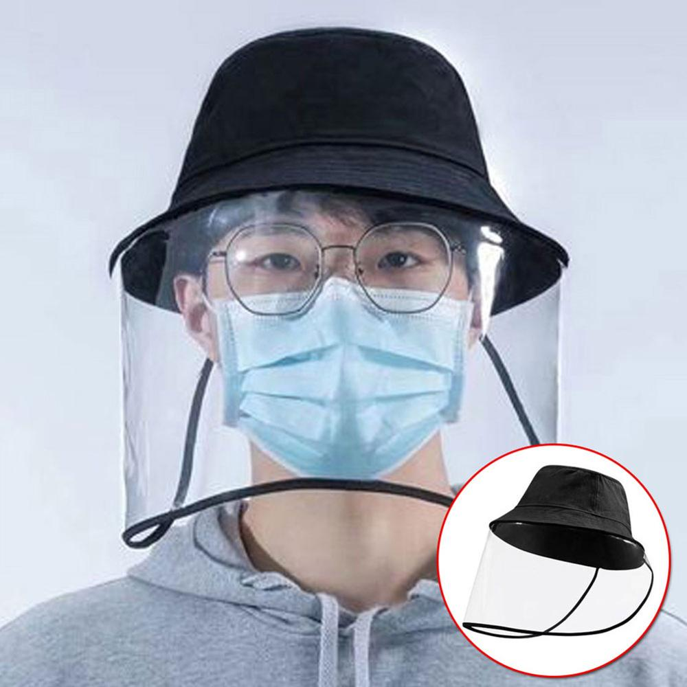 Multi-function Protective Cap Coronary Virus  Protective  Hat  Anti-saliva Hat Face Mask Protective Cap   Outdoor Fishing Hat