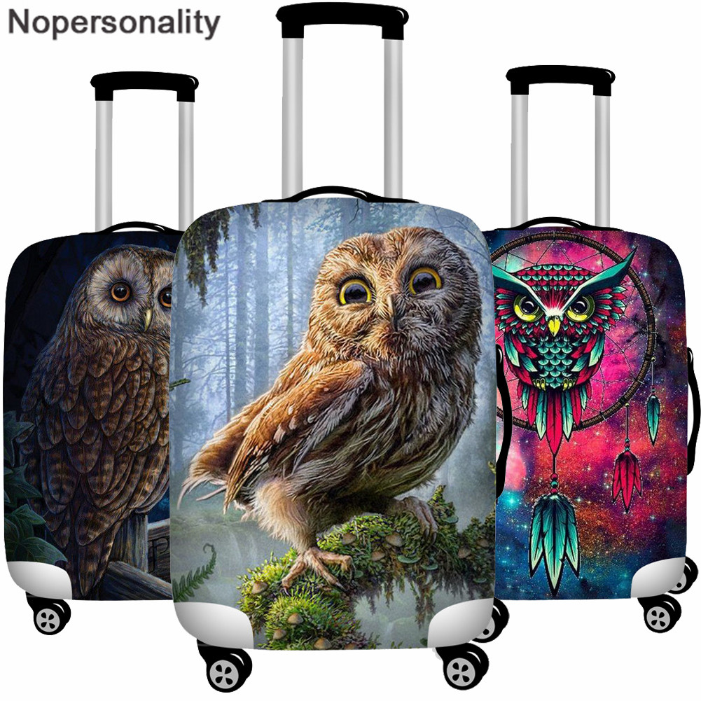 Nopersonality Galaxy Owl Print Elastic Protective Luggage  Covers For 18-32 Inch Suitcase Case Baggage Cover Travel Accessories