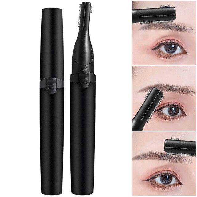 High Quality Electric Face Eyebrow Scissors Hair Trimmer Mini Portable Women Body Shaver Remover Blade Razor Epilator