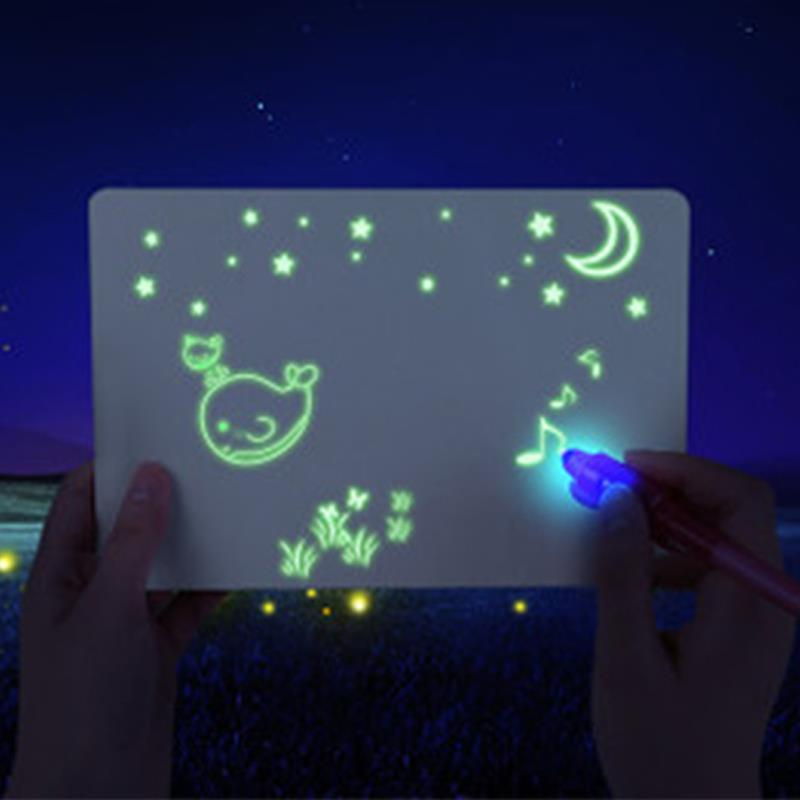 Painting Board Sketchpad Child Highlighter Graffiti Illuminate A5/A4/A3 High Density Sturdy Durable Writing Board Copy Version