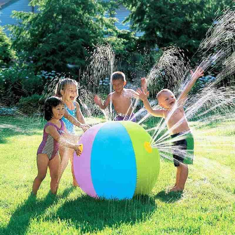 Funny Inflatable Spray Water Ball Children's Summer Outdoor Swimming Beach Pool Play The Lawn Balls Beach Sprinkler Pad