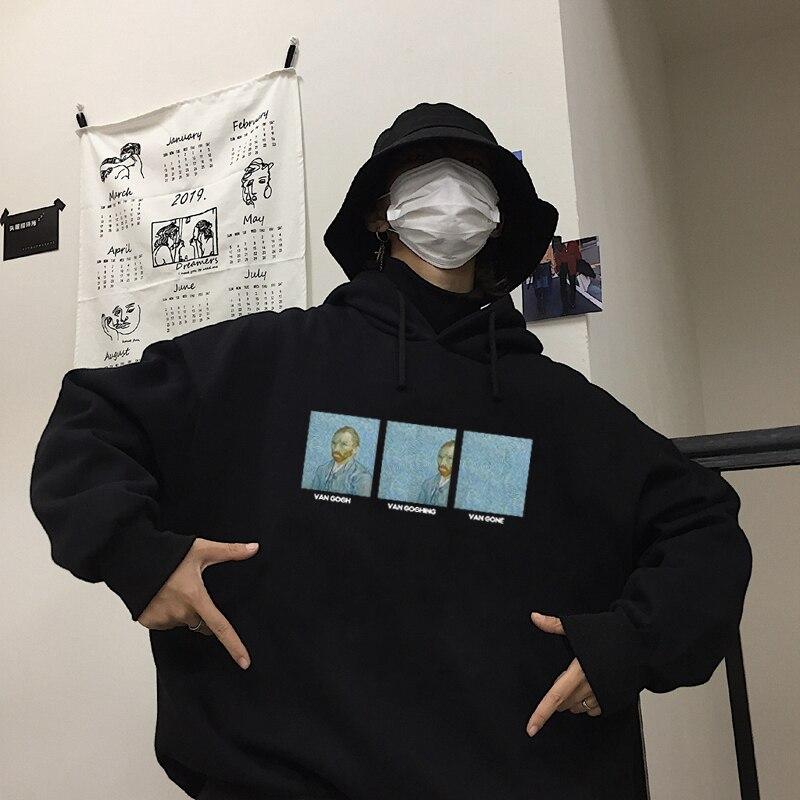 Винсента Виллема ван гога Забавный принт повседневные толстовки Мужская мода Swag Известный рисунок Harajuku Автопортрет Мужская толстовка WY17|Толстовки и свитшоты|   | АлиЭкспресс