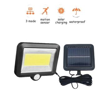 цена на 56/30 led Separable LED Solar Light Solar Panel Power PIR Motion Sensor LED Garden Light Outdoor Pathway Sense Solar Lamp Wall L