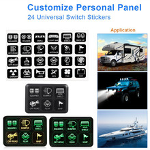 6 Gang Switch Panel Electronic Relay System Circuit Control Box  Waterproof Fuse Relay Box for Car Boat Truck SUV & RV Trailer недорого
