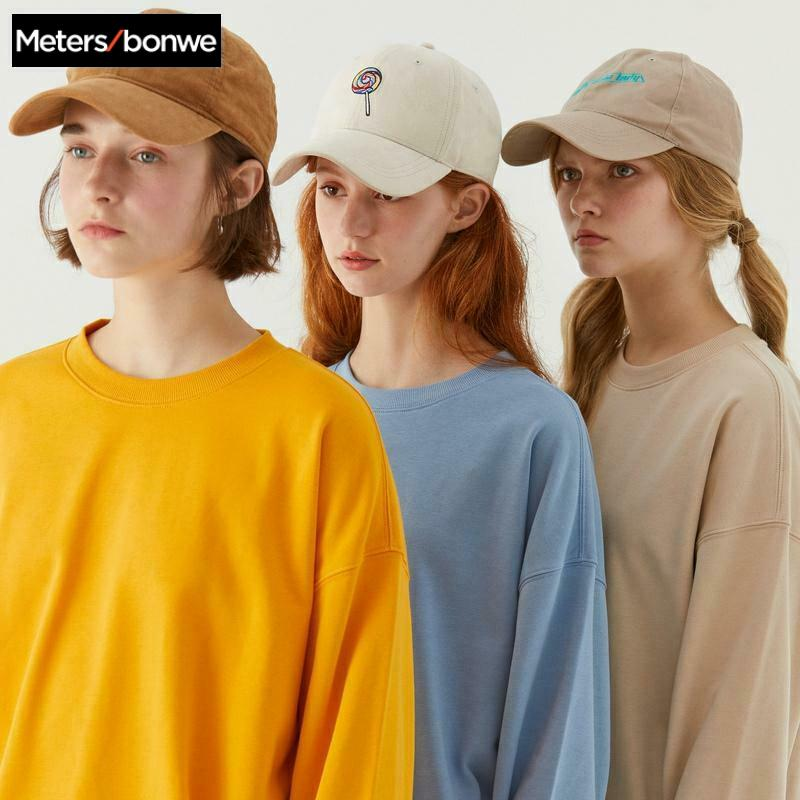 Metersbonwe Basic Hoodies For Women Streetwear Female Spring Autumn Solid Colour Hoodies Casual Sweatshirt New Hip Pop Tops 1