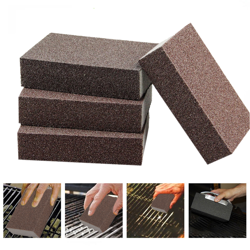 6/4/2/1 Pcs BBQ Sponge Cleaning Brush Brick Block Cleaning Stone BBQ Racks Stains Grease Cleaner BBQ Tools for Washing Dishes