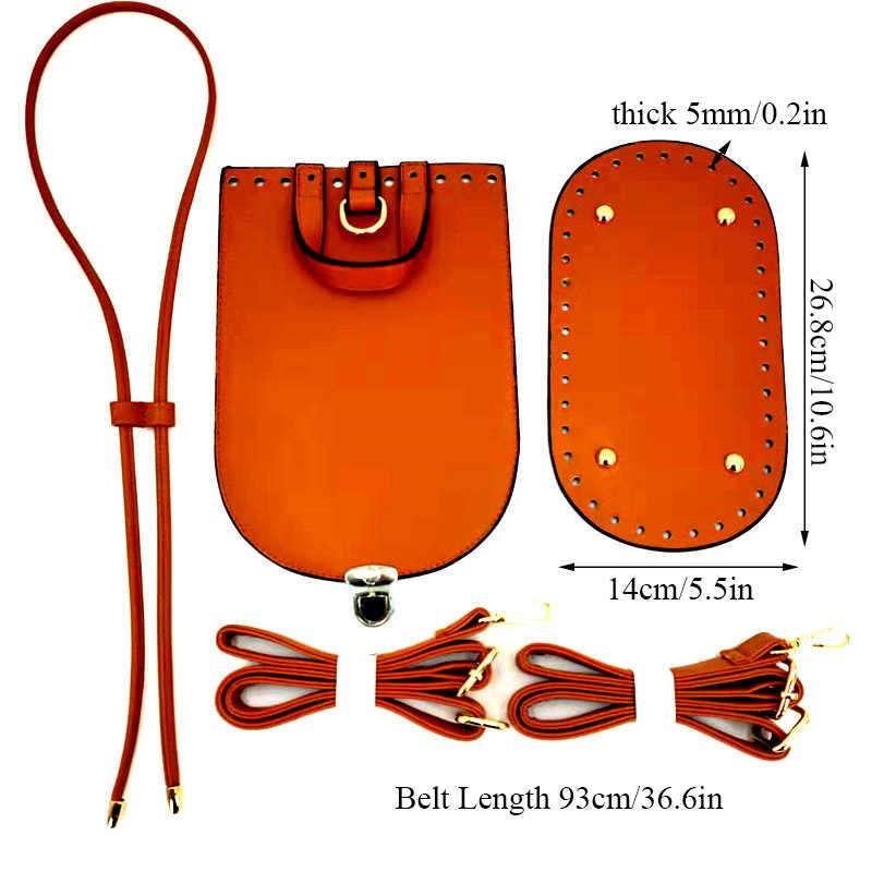 Handmade กระเป๋าไหล่สายคล้องไหล่ชุดกระเป๋าด้านล่างสำหรับ DIY กระเป๋ากระเป๋าเป้สะพายหลัง 5PCS ชุด PU หนังกระเป๋าถือกระเป๋าอุปกรณ์เสริม