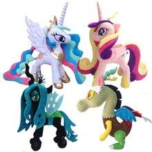 Милая кукла My Little Pony плюшевые мягкие с наполнением игрушки принцесса Луна Celestia queen Chrysalis аниме-игрушка подарок на день рождения для девочек
