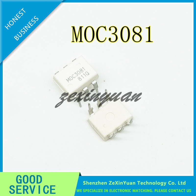 10PCS/LOT MOC3081M MOC3081 3081 DIP-6 OPTICAL ISOLATOR