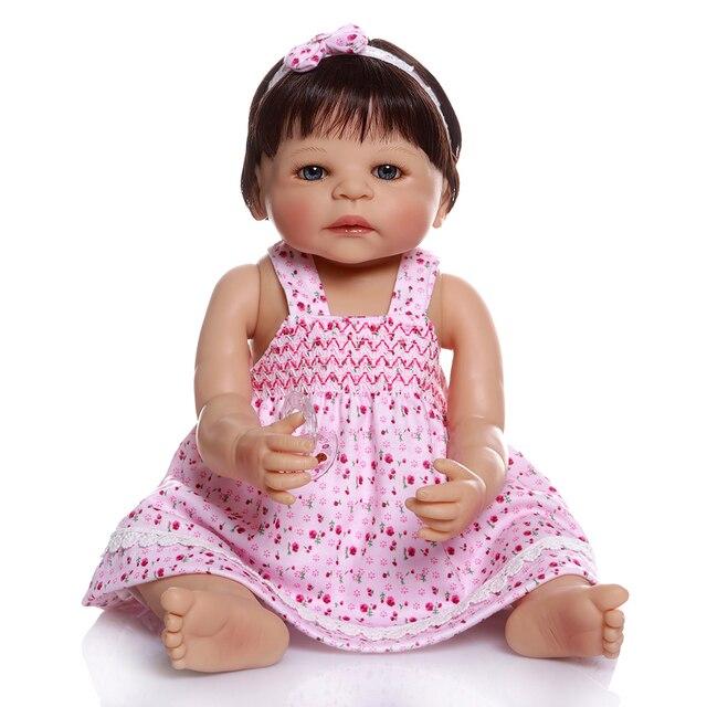 Full Body Silicone Vinyl Bebe Doll Reborn Baby Girl Dolls 2