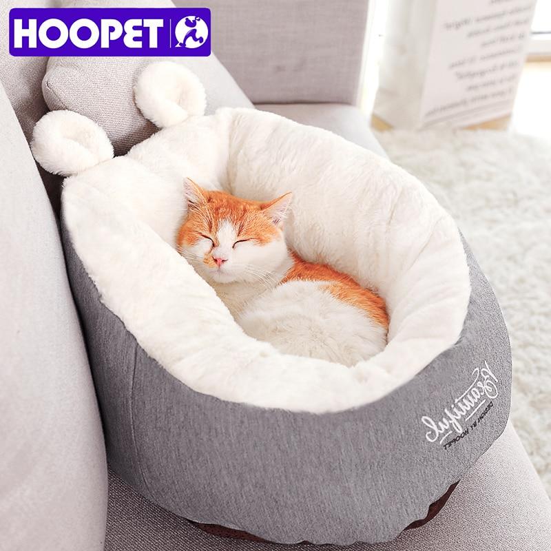 Hoopet animal de estimação gato cama do cão aquecimento casa do cão material macio saco de dormir pet coxim filhote cachorro canil
