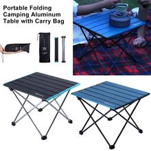 Ultralight Compact Folding Camping Aluminum Table With Carry Bag Portable Barbecue Leisure Booth