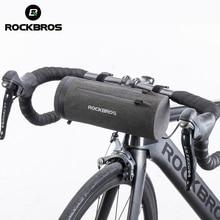 ROCKBROS Водонепроницаемая велосипедная сумка передняя велосипедная сумка MTB Дорожная корзина для руля велосипеда Многоцелевой большой вместительный рюкзак велосипедная трубчатая сумка
