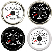 40 ~ 120 Celsius 52 Mm Boot Auto Water Temperatuurmeter Digitale Thermometer Water Temp Gauge Meter Backlight 9 32V