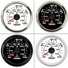 40~120 Celsius 52 mm Boat Car Water Temperature Gauge Digital Thermometer Water Temp Gauge meter Backlight 9 32V