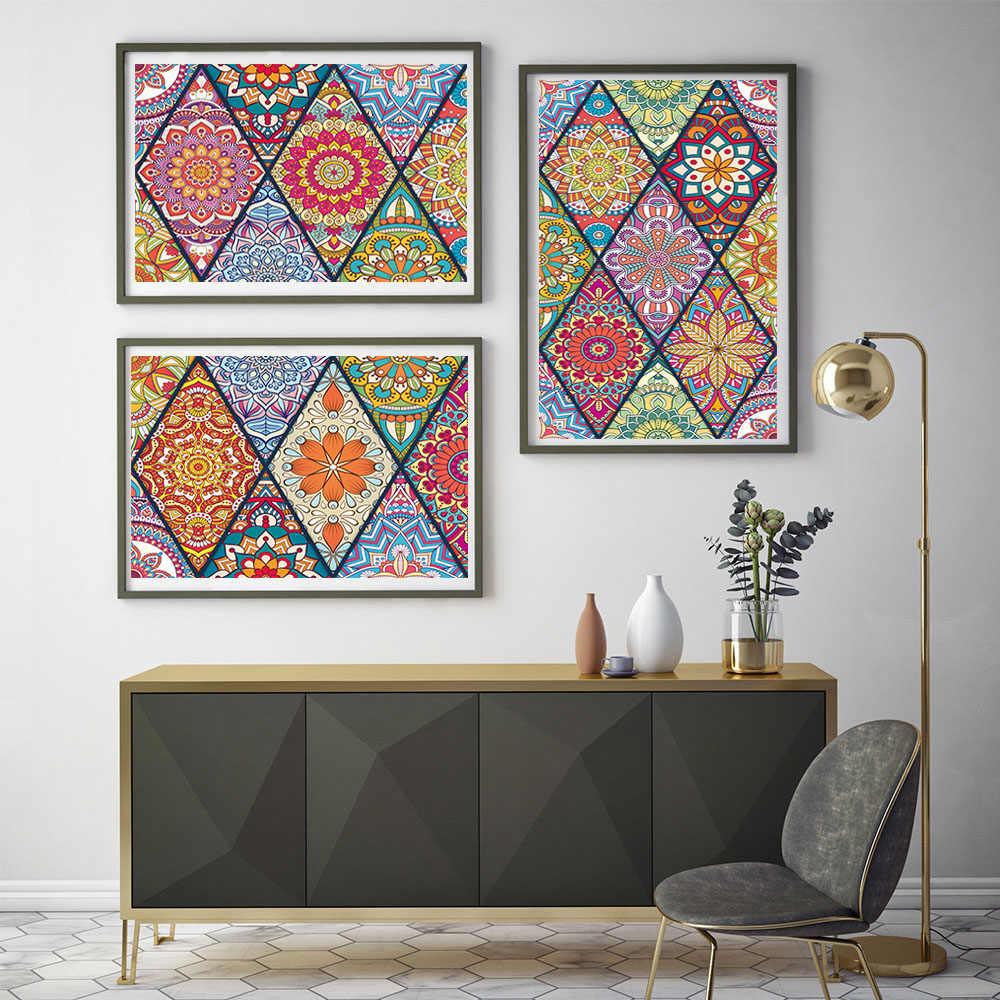Colorful Retro Dinding Ubin Stiker Dapur Tangga Pintu Dekorasi Wallpaper Peel & Stick Vinil DIY Keramik Seni Mural