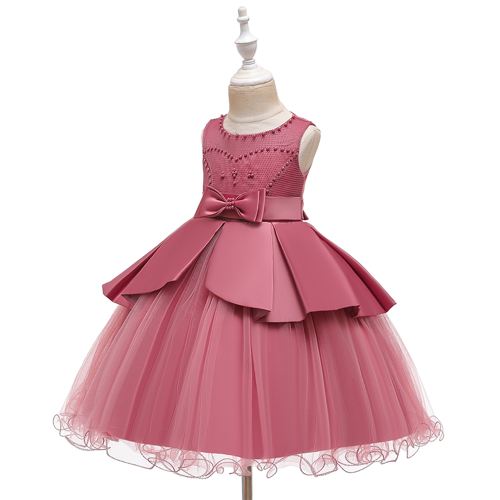 Girls Dress 2020 new Lace Embroidery Princess Birthday Party Dress Girls Flower Wedding Gown Formal Dress Kids Dresses For Girls