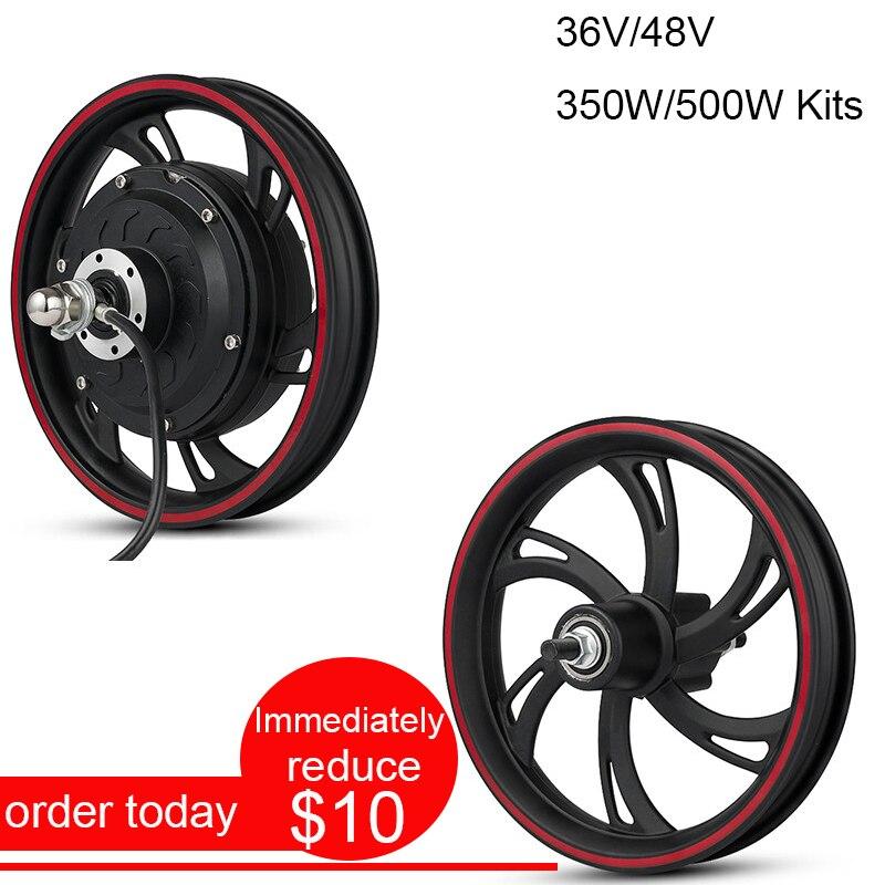 E Scooter moteur 36V350W arrière moteur roue sans balais moyeu moteur vélo vélo électrique vélo Kit 500W 12 avant roue moteur Citycoco