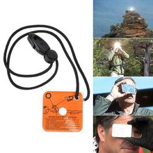 Hot Sale Outdoor Survival Multifunctional Signal Mirror for Field Long-range Communication Reflective Makeup Mirror EDC Tools